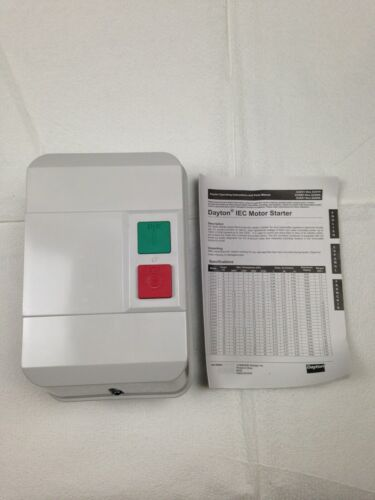 DAYTON #2UXW4 24VAC IEC Motor Starter 32A - 3 Pole - Start / Stop Buttons NEW !!