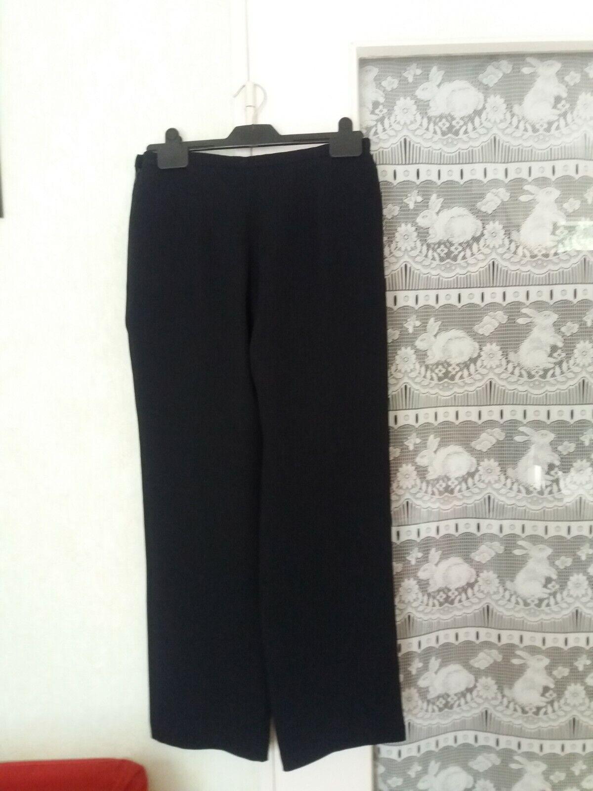 Pantalon femme maille fluide marque 123 coloris bleu foncé taille 38