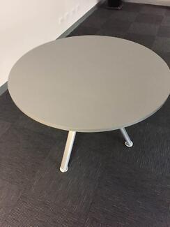 DARK GREY CIRCULAR OFFICE TABLE AVAILABLE