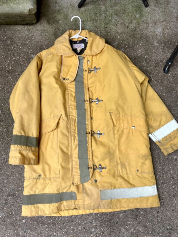 authentic vintage firefighter coat morning pride sz 44