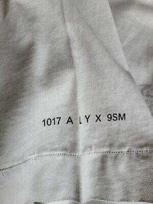 NWT 1017 ALYX 9SM A Cube Chain Men's Bone XL Tshirt