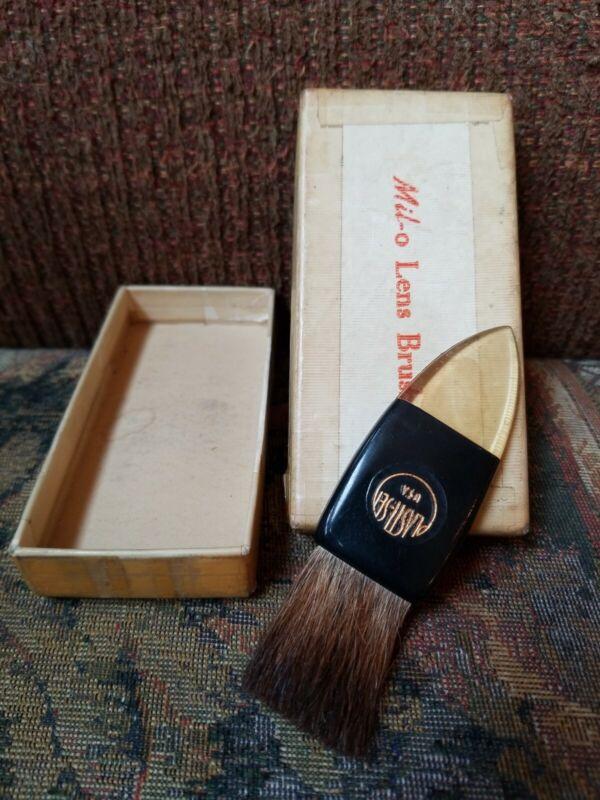 Vintage MILO Camel Hair Lens Brush w/ Box