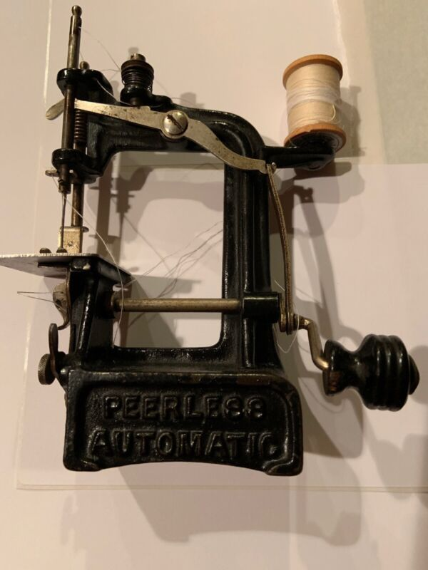 VERY RARE 1897 Smith and Egge Peerless Automatic Sewing Machine