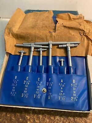 Vintage Telescoping Gauges Set By Chuan Brand Mint Condition
