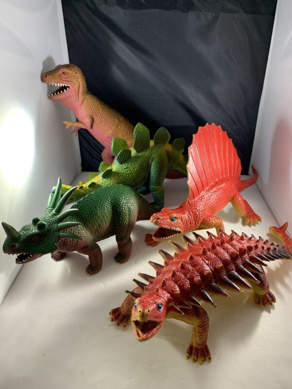 Dor Mei Dinosaur Collection Anklyosaurus Edaphosaurus Tyrannosaurus Stegosaurus
