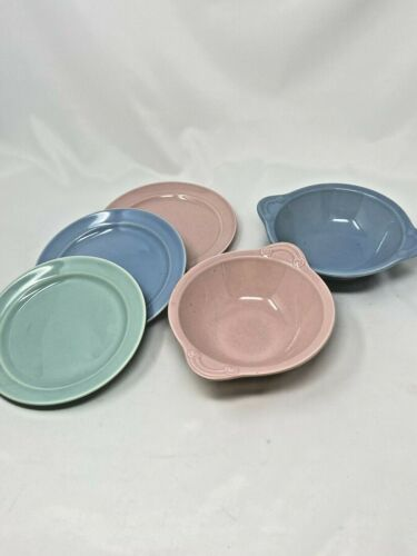 Vintage LuRay Pastels Lot of Lug Bowls and Bread Butter Plates