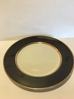 Fitz and Floyd Renaissance Black Buff Charger/Service plate 12