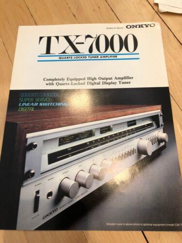 Onkyo TX-7000 Company Sales Brochure