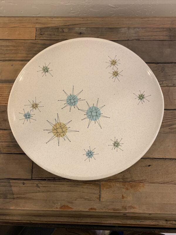 "Franciscan Atomic Starburst Pattern Dinner Plate 10 7/8"""