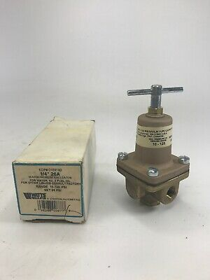 Watts 0103190  14 26a Water Pressure Regulator 10-125 Psi New Old Stock