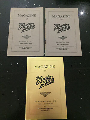 Magazine of the Austin Seven Club 1972  A and B Copies and Golden Jubilee Issue