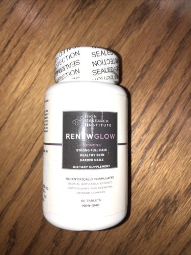 Skin Research Institute (RENEWGLOW) Dietary Supplement 60 Tablets Exp 8/22