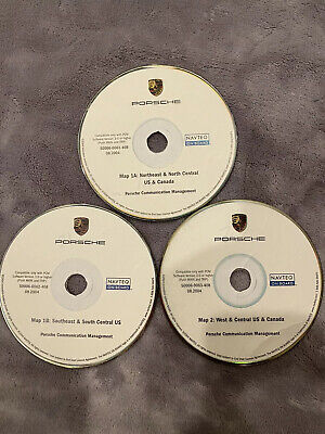 03-04 Porsche PCM 3.0 Navigation CD set U.S.& Canada