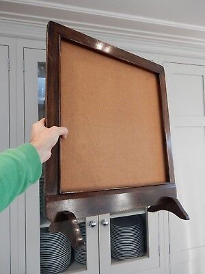 ART DECO  WOOD FIRESCREEN VGC TO UPCYCLE ( AWAITS EMBROIDERY OR PICTURE )