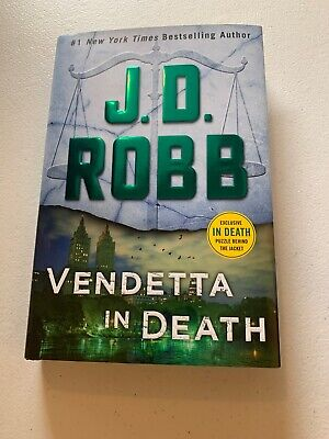 J.D. Robb Vendetta In Death new book NY Times best seller with