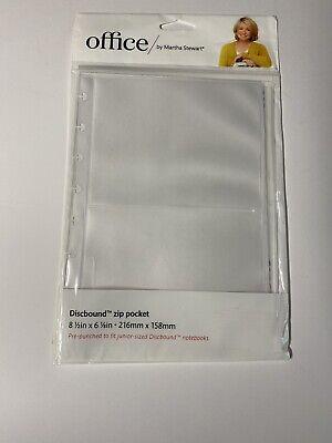 Martha Stewart Office Discbound Zip Pocket - Letter Size 11-18 X 9-18