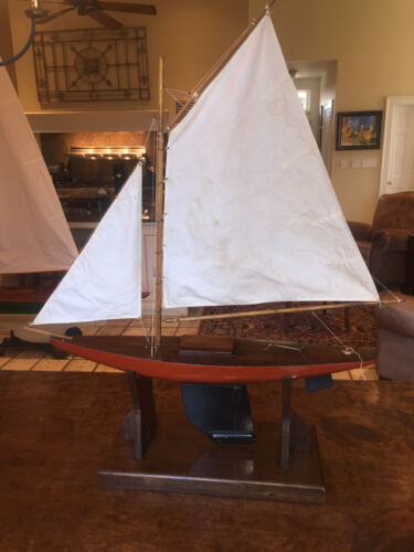antique pond yacht with stand