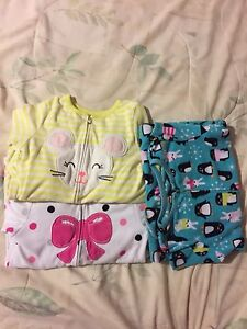 Carters pjs 4t, 6t and 6/6x