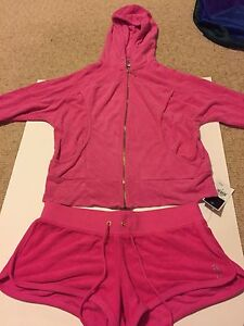 juicy couture pink tracksuit size small