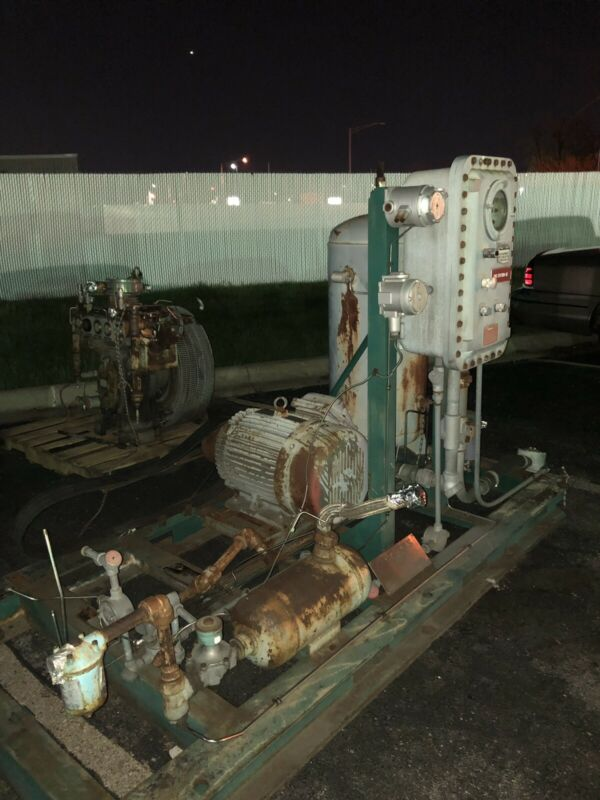 Cng compressor skid with motor and explosion proof control box
