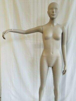 Quality Female Full Body Mannequin Realistic Display Head Turn With Base