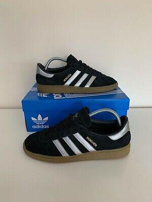 Adidas Originals Munchen Black & Silver Not SPZL - Size 8