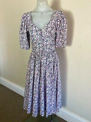 80s Dresses | Casual to Party Dresses LAURA ASHLEY Vintage Floral Dress 1980s Size 12 (fit size 10) $63.66 AT vintagedancer.com