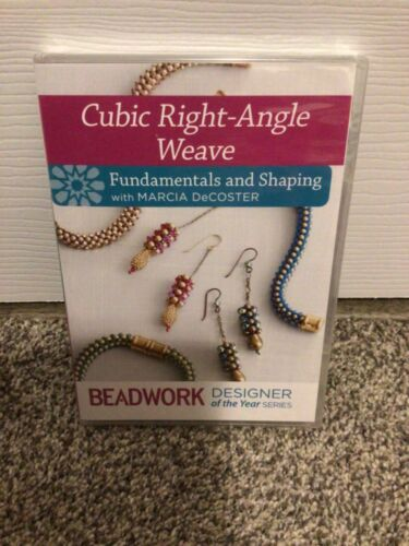 Beadwork Cubic Right Angle Weave Fundamentals and Shaping DVD SEALED