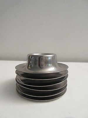 Vtg MCM WMF Stainless Steel Stackable Egg Cups Stand Holders Germany