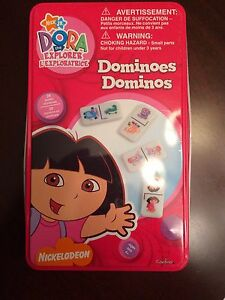 Dora the Explorer Dominoes in Tin Box