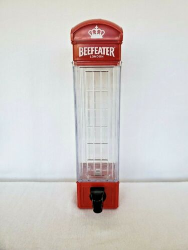 Beefeater Gin London Phone Booth Gin Dispenser 15 Inches Tall - 3 Inches Wide