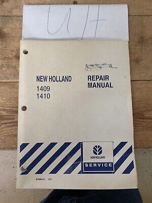 New Holland 1409 1410 Discbine Disc Mower-conditioner Service Repair Manual