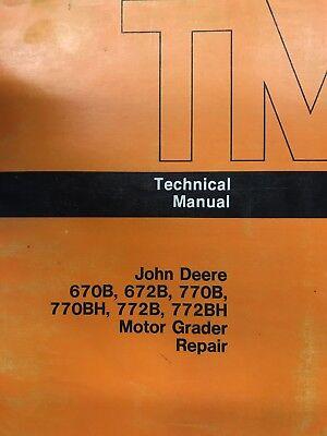 John Deere Motor Grader Technical Manual