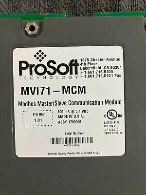 Prosoft Technology Mvi71-mcm Modbus Masterslave Communication Mod Allen Bradley