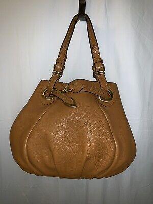 Fendi Selleria Brown Cuoio Romano Leather Handbag Original Cost $1,950