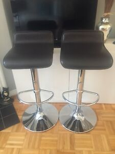 Structube Leather Bar Stools