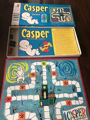 Casper the Friendly Ghost Game Milton Bradley 1959 Needs Disc Movers 21