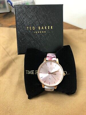 NEW Ted Baker TB10030695 'Kate' Patent Leather Floral Strap Women's 40mm Watch