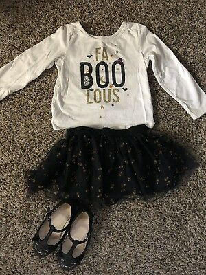 """Toddler Girls Halloween Outfit """"FABOOLOUS"""" The Childrens Place 18-24mo - Children's Place Halloween Outfits"""