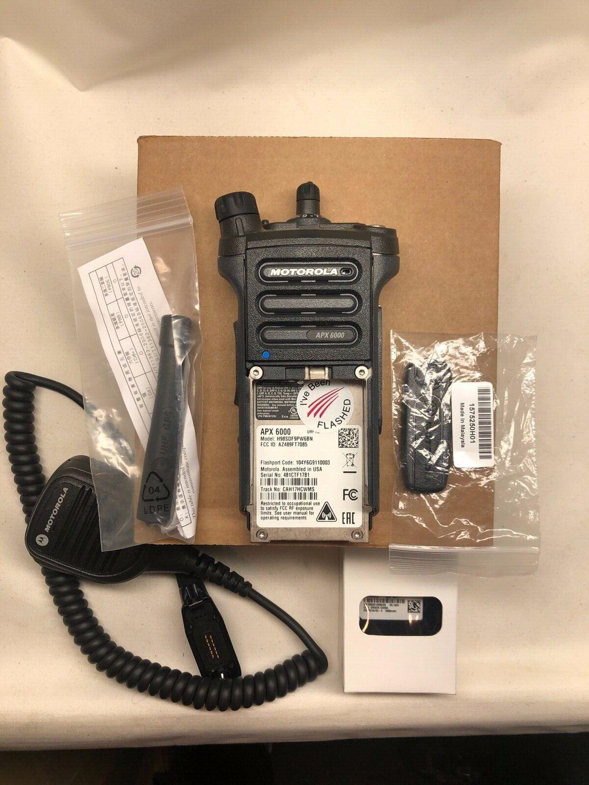 NEW RADIO: MOTOROLA APX6000 Mdl 2.5 UHF 450-520MHZ UL/I.S BLACK w/ acc BN. Buy it now for 2200.00
