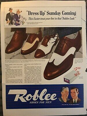 Roblee Shoes~Dress Up Sunday Coming This Easter~1941 Vintage Print AD A95