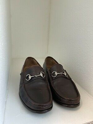 Gucci Vintage EUR 43 (US 9.5E) Brown Horsebit Loafers - Italy -