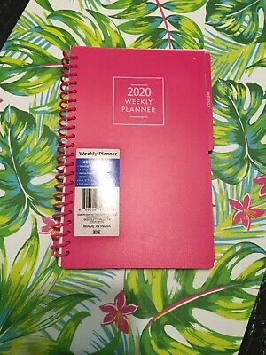 2020 Weekly Planners Agenda Pink Blue Black Organizers Office Supplies Calendar