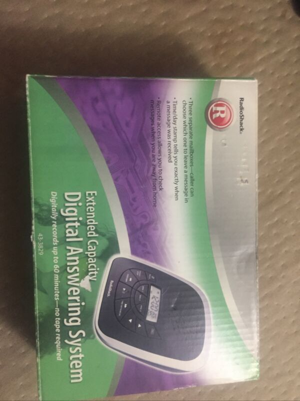 RADIO SHACK Digital Answering System Machine Extended Memory 43-3829 Excellent