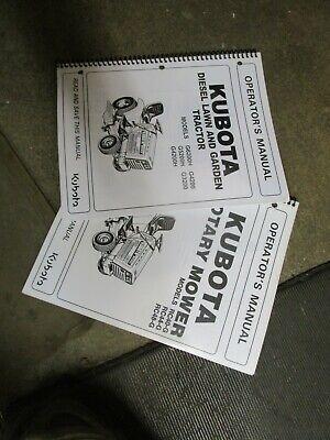 Kubota G3200 G4200 G5200 G6200 3200 4200 5200 6200 Garden Tractor Owners Manual