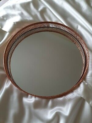 Rose Gold Mirror Tray Used Good Condition