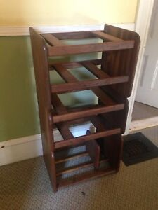 Solid Teak Mid Century Modern Stereo Stand