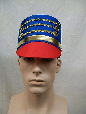 Drum Major Hat Toy Soldier Nutcracker Majorette Band Drummer Boy Royal Guard OS
