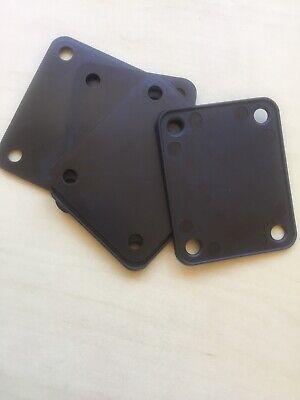 Plastic Neck Plate Gasket Cushion Shim Guitar / Bass Protector Black