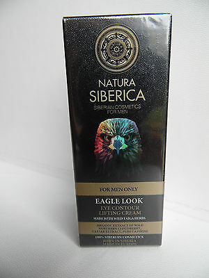 Natura Siberica Eagle Eye Lifting Cream For Men - No Paraben - Natural Organic